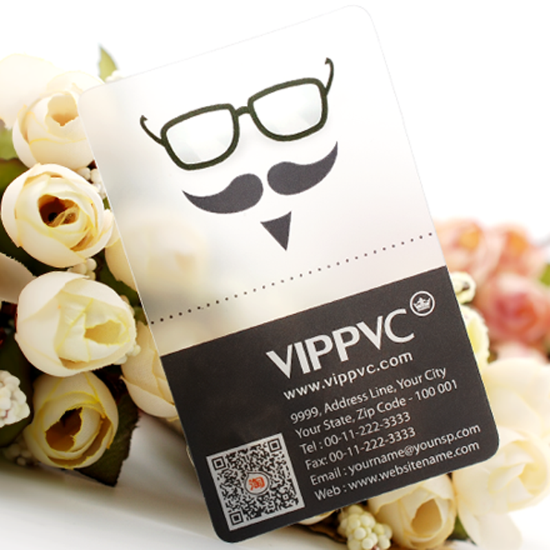 Personalized Free Design Wholesale Custom Printing Transparent Plastic Business PVC ID Cards 5