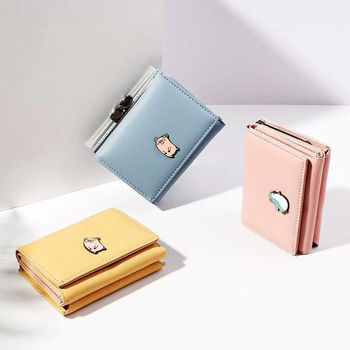 2019 women's wallet small cute wallet women's short leather women's wallet zipper wallet Portefeuille women's wallet clutch фото