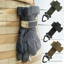 Gants en Nylon multi-usages crochet gants de travail pince de sécurité en plein air gants tactiques corde d'escalade Anti-perte Camping suspendu Buck