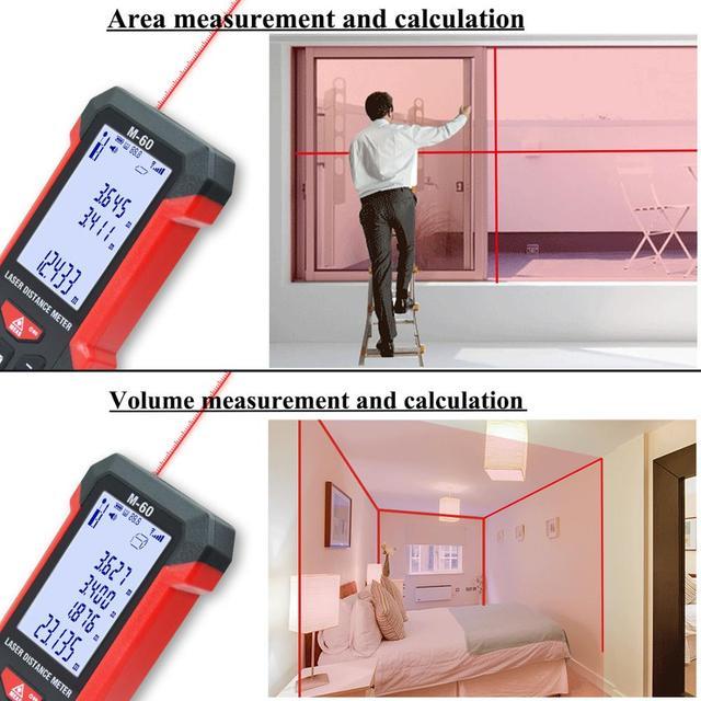 Фото лазерный дальномер teclaser цифровой лазерный 40 м 60 100 измерительная цена