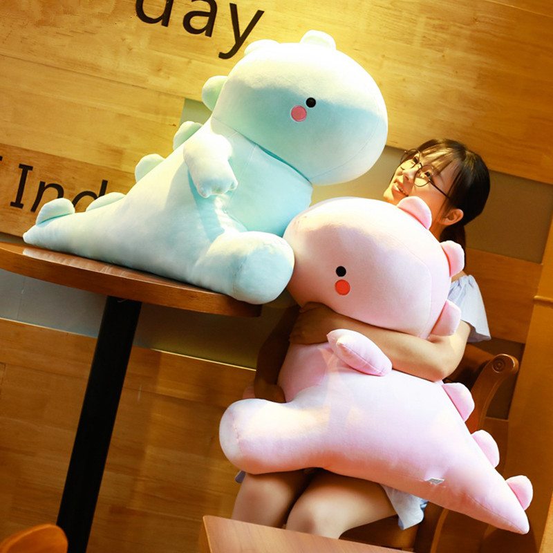 Ultra Soft Lovely Dinosaur Plush Doll Huggable Pink/Blue Stuffed Dino Toy Kids Huggable Animals Plush Toy 30/40/50cm