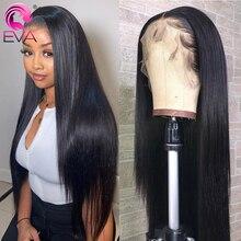 Eva 360 레이스 정면 가발 흑인 여성을위한 스트레이트 인간의 머리 가발 Glueless 레이스 프론트 인간의 머리 가발 Pre Plucked Brazilian Remy