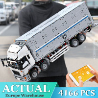 Technic Series MOC 1389 Tow Wing body RC Container Truck Model Building Blocks Bricks Compatible LEPINING 23008 DIY Toys