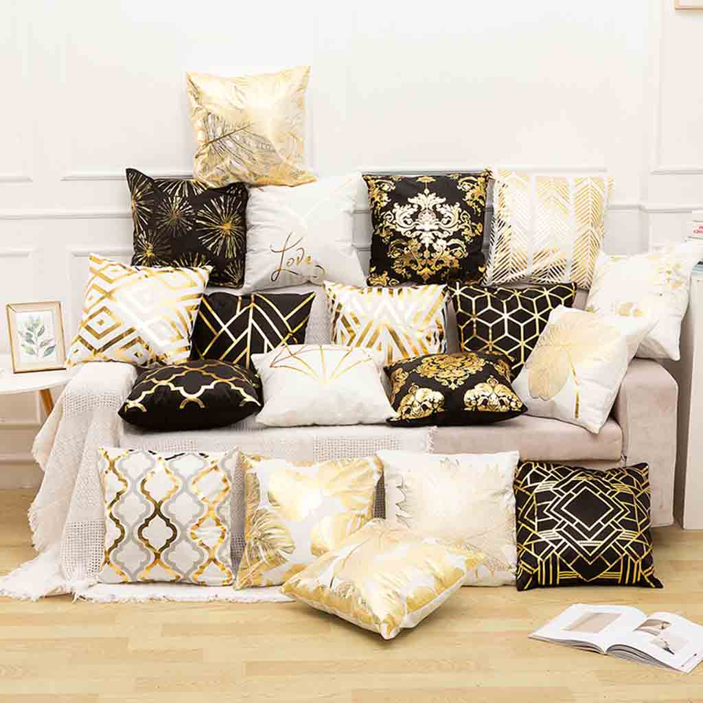 Home Linen Letter Sofa Decor Throw Waist Cushion Pillow Case Cover Lovely