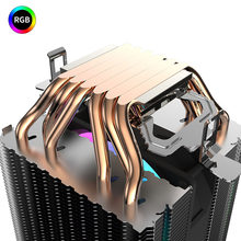 Ventilateur de refroidissement pour ordinateur Intel LGA 775/1150/1151/1155/2011/AM3/AM4, 6 tuyaux de chaleur, 90mm, PWM, 3 broches