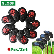 Iron-Pole-Head-Covers Putter-Protector Sports Waterproof Skull Outdoor 9pcs/Set