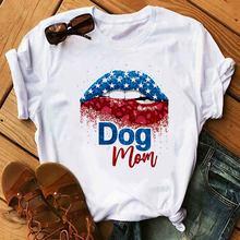 Harajuku футболка maycaur Женская милая собака Лапа Красочные