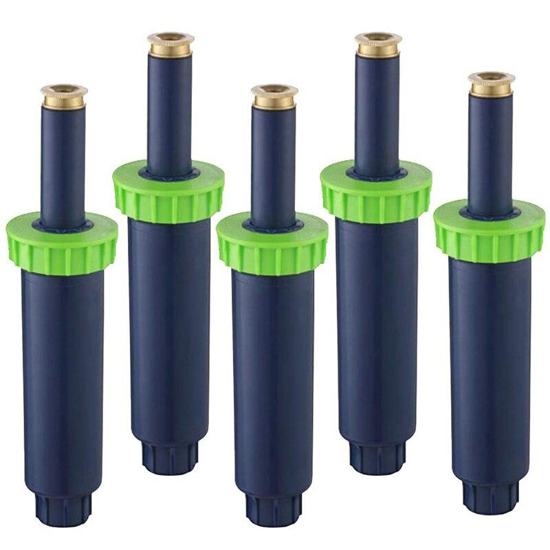 10 cm Pop-Up Sprinkler für Pop-Up Bewässerung Sprinkler für Rasenflächen, Terrassen, Gärten, blume Betten-5 Packs (4x 360-Grad Sprinkl