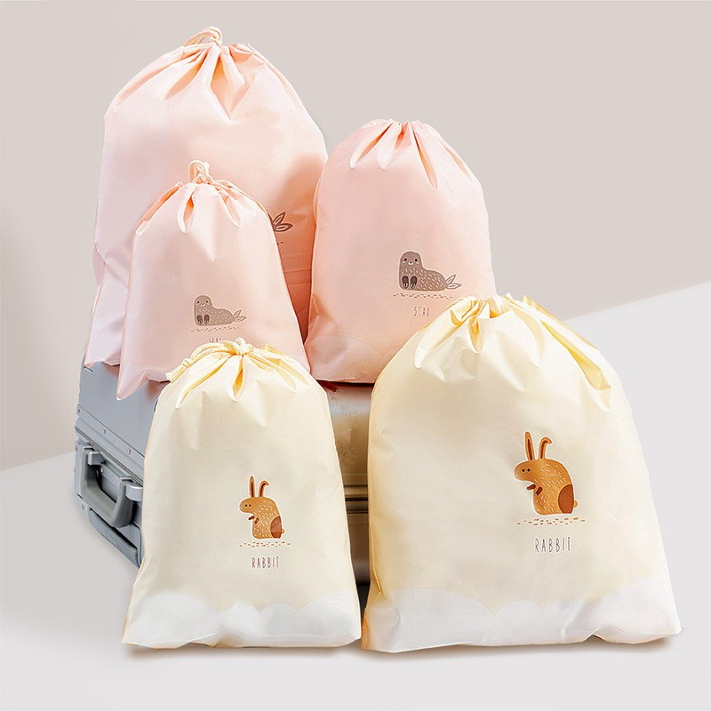 1pc Waterproof Swimming Storage Bags Clothes Bag Sports Travel Storage Pouch Shoes Bag Drawstring Bags