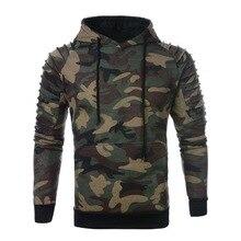 PUIMENTIUA Camouflage Hoodies Men 2019 New Fashion Sweatshirt Male Camo Hoody Hip Autumn Winter Military Casual  Hoodie