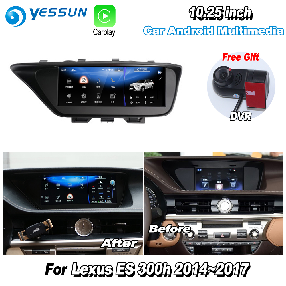 <font><b>Car</b></font> Android Multimedia Player For <font><b>Lexus</b></font> ES 300h ES300h 2014 2015 2016 2017 Radio Stereo GPS Navigation System <font><b>DVR</b></font> HD Screen image