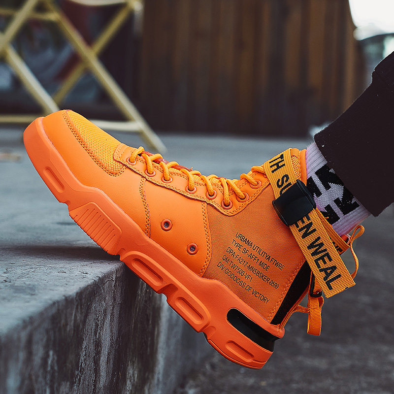 2020 New Men Sneakers Trend Hot Sale Comfortable Man Running Shoes Outdoor Non-slip Breathable Male Orange Sports Jordan Shoes