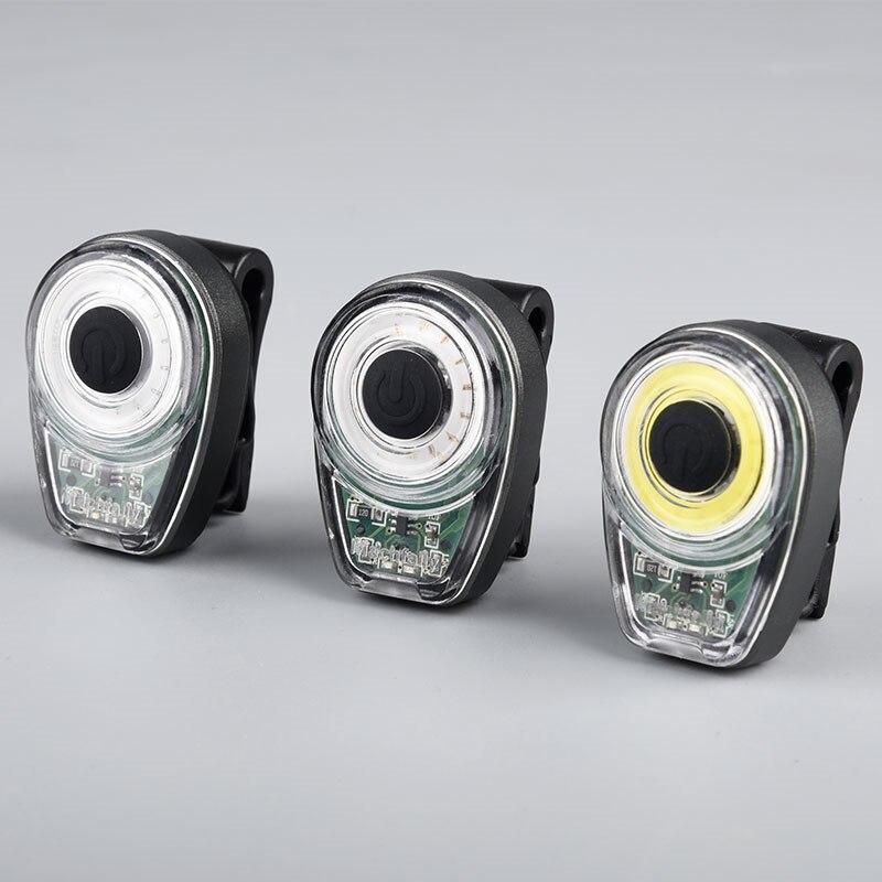 XANES STL02 Smart Bike Tail Light USB Charging Warning LED MTB Round Rear Back Safety Lantern For Cycling Torch Flashlight
