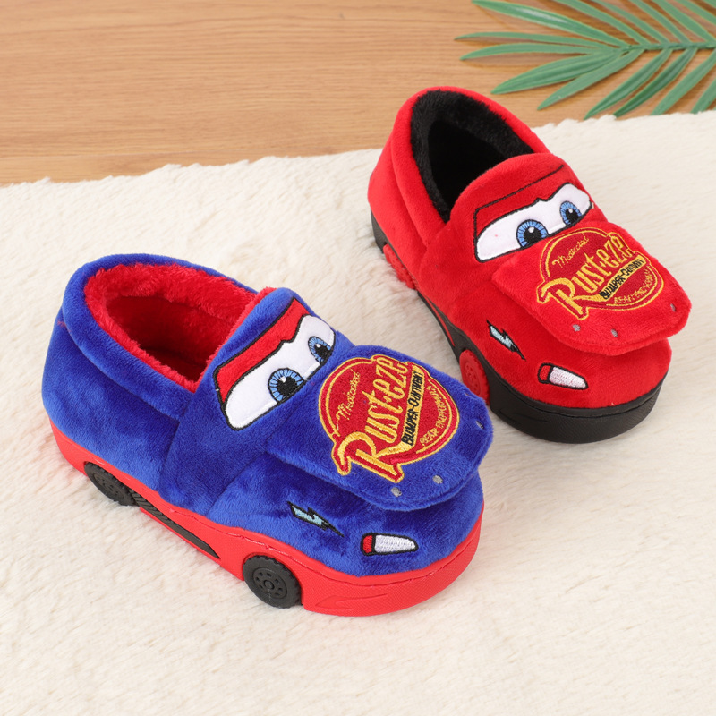 Disney Children's Cotton Shoes 2019 Winter New Car Home Non-slip Cotton Slippers Children's Bag With Cotton Shoes