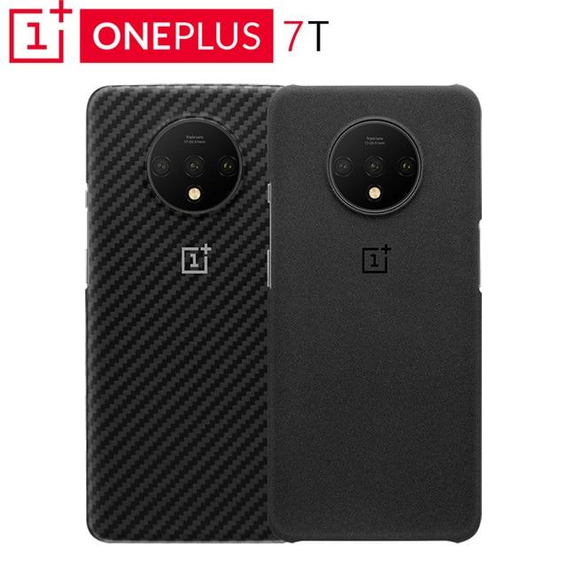 Original OnePlus 7T étui de Protection Karbon grès un Match parfait Protection fiable profil discret bord surélevé