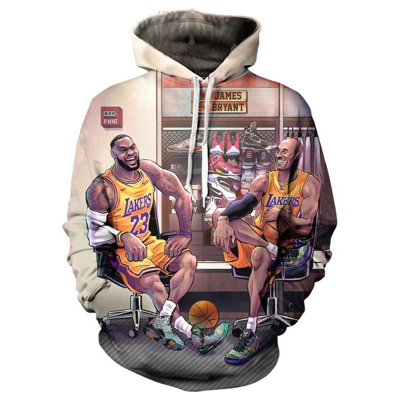 3D printed Hoodie 2020 men's Hoodie Basketball star brand men's jacket high quality Pullover fashion sports Hoodie Street coat