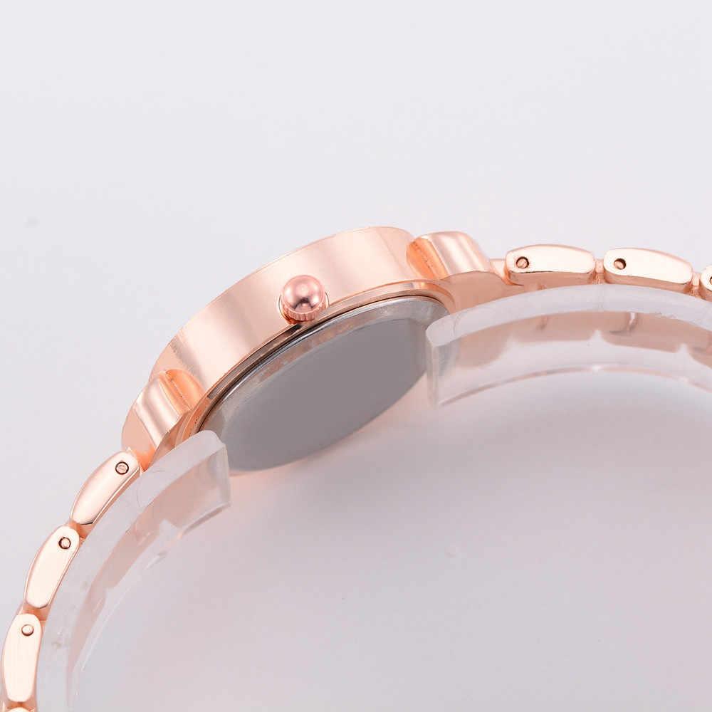 נירוסטה Dail שעוני נשים מותג יוקרה ריינסטון שיבוץ שעון מקרית גבירותיי שעון יד Relogio Feminino Montre femme