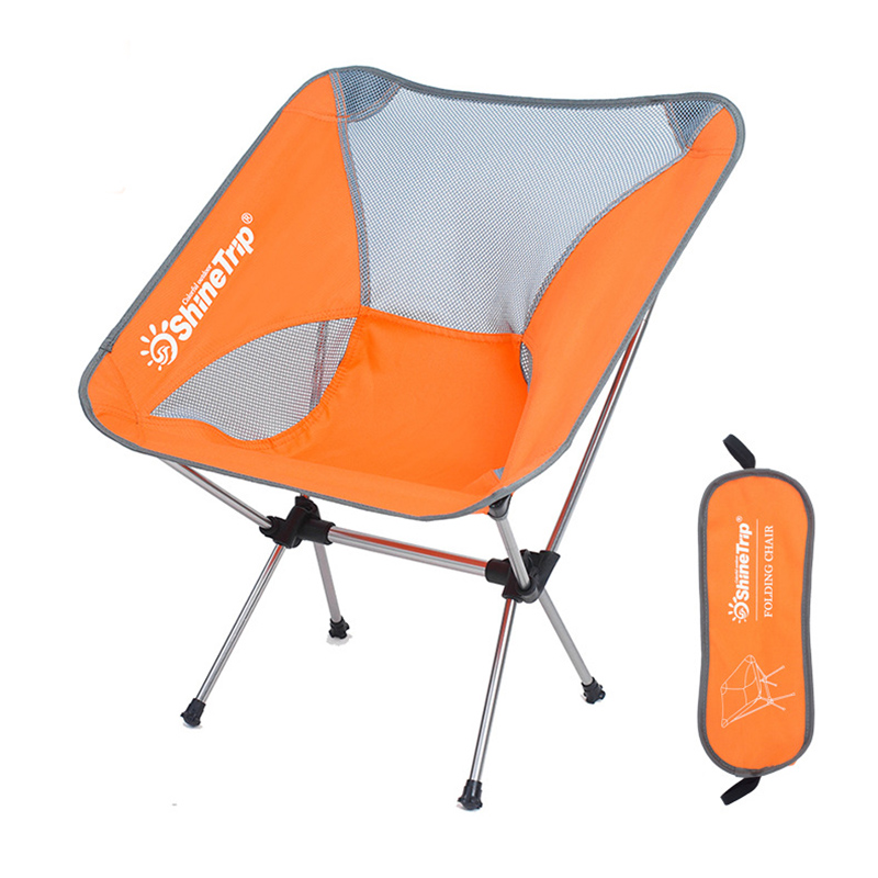 High Quality Folding Chair Aviation Aluminum Alloy Ultra Light Moon Chair Fishing Chair Outdoor Travel Camping Hiking Beach
