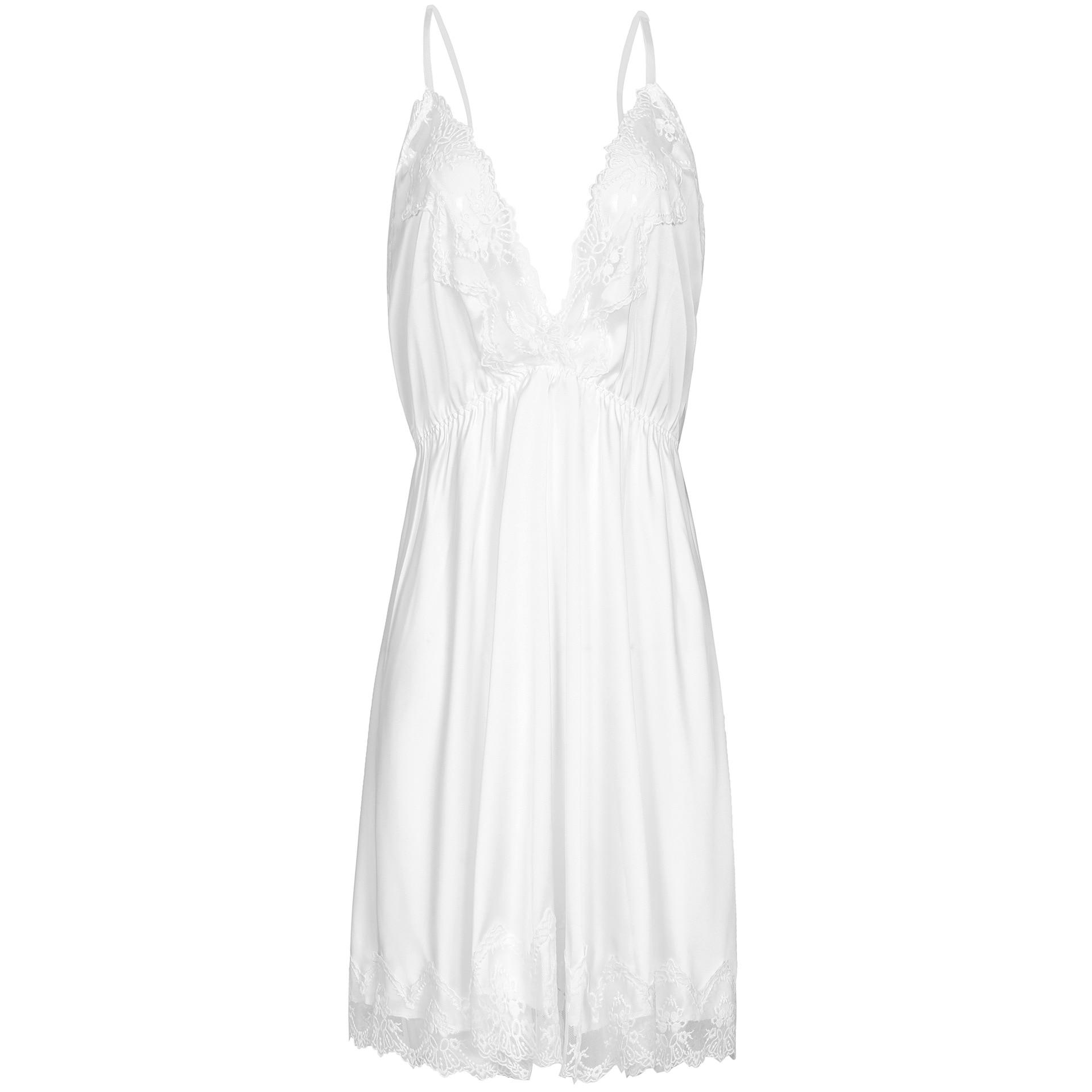 Hoge kwaliteit stretch satijn Lingerie voor dames Sexy pyjama