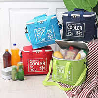 20L Outdoor Picnic Cooler Bags Waterproof Oxford Cloth Insulation Lunch Cold Box Tote Portable Bento Food Organizer For Travel