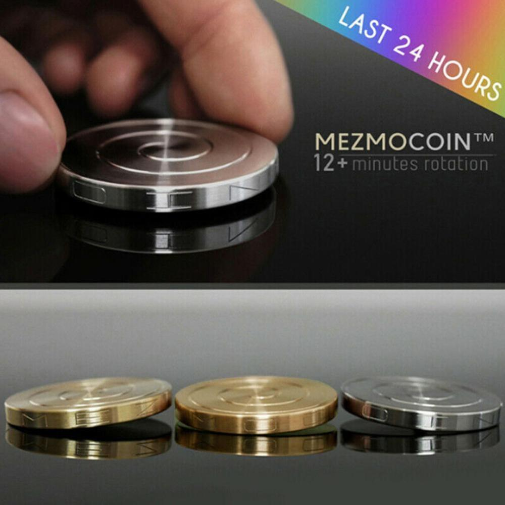 Dropshipping Kinetic Desk Toys Metal Spinner Desktop Transfer Coin Gyro For Children Adult Ant-stress Stress Relief Toy