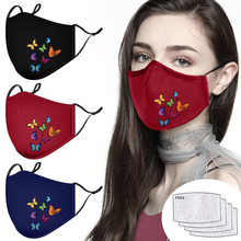 Face-Shield Mondmasker Reusable 4-FILTERS with Cloth Outdoor Windproof 2pcs