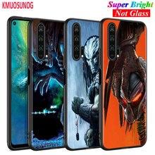 Black Silicone Cover Alien vs Predator for Huawei Honor 10i 9X 8X 20 10 9 Lite 8 8A 7A 7C Pro Lite Phone Case stylish alien vs predator shape key ring