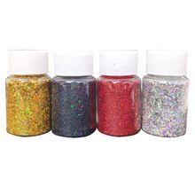 4 Colors Resin Casting Mold Glitters Sequains Pigment Fillings Kit Makeup Jewelry Nail Art Decor Making