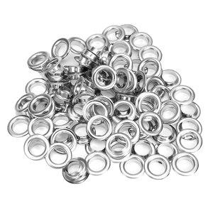 100 шт Металлический Набор для проушин 10 мм металлические втулки набор колец с монтажными панелями для рукоделия кожаных изделий Швейные принадлежности