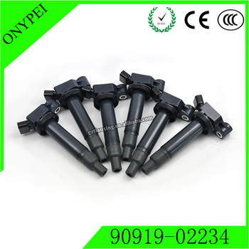 6 X 90919-02234 90080-19016 Car Ignition Coil For Toyota Avalon Camry Highlander Lexus ES/RX300 3.0L 9091902234 90919 02234