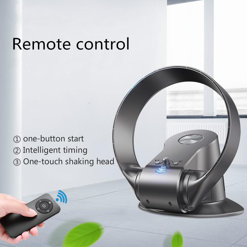 Bladeless Fan Multifunction Mute Air Conditioning Cooling Fan With Remote Control