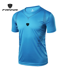 FANNAI Sport Men Running Dry Fit T Shirts Quick Training Fitness Gym Shirt Breathable Sports Fashion Shorts Sleeve Tee