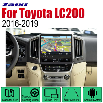 ZaiXi Auto Player GPS Navigation For Toyota Land Cruiser LC200 2016~2019 Car Android Multimedia System Screen Radio Stereo zaixi car android system 1080p ips lcd screen for toyota land cruiser prado 150 2014 2017 car radio player gps navigation wifi