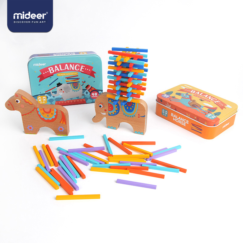 Mideer Kids Wooden Toys Shapes Puzzle 40pcs Educational Toys For Blance Practise 3-5years  Wood Toys For Children