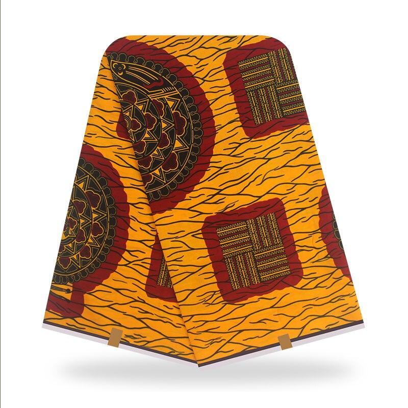 100% хлопок желтый Анкара Африканские Восковые ткани 6 ярдов нигерийский Воск Печать Ткань Горячая Распродажа ткань в африканском стиле ткан...