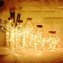 10 15 20 LED wine bottle light cork LED light string garland silver line strange light glass craft Christmas party decoration