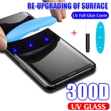 Uv 300D Gehard Glas Voor Samsung Galaxy S9 S8 S10 Plus Note 8 9 10 100D Volledige Liquid Screen Protector voor Samsung S8 Glas Film(China)