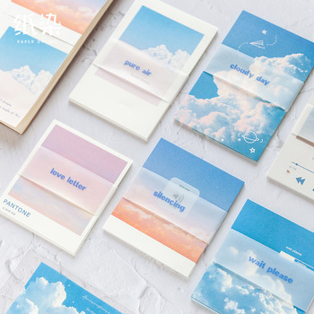 The Romantic Sky Cloud Theme Memo Pad 30 Sheets DIY Message Note Journal Diary Deco Material Supplies image