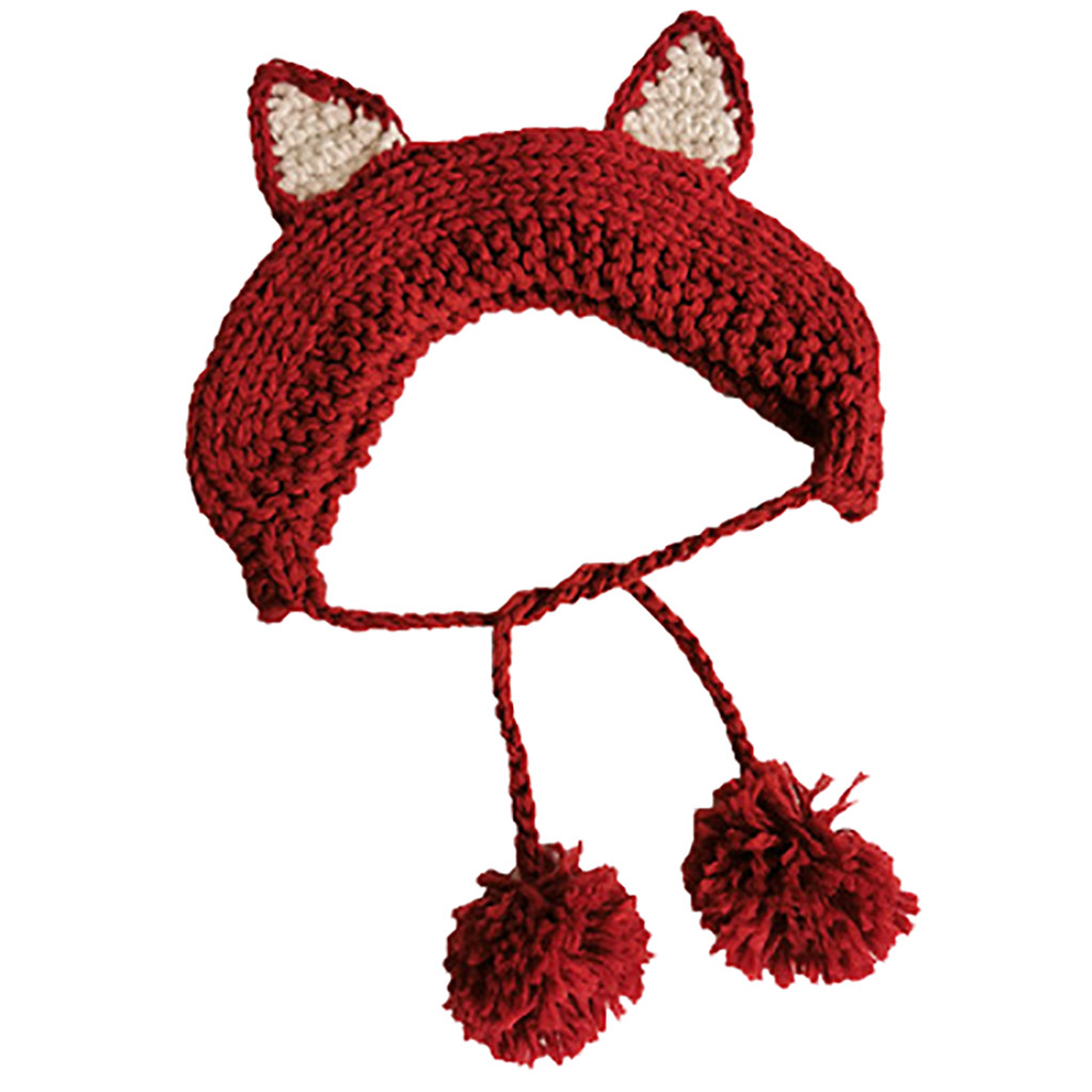 Knit Wool Crochet Earflap Winter Autumn Warm Plush Ear Muffs Cute INS Fashion 9.30