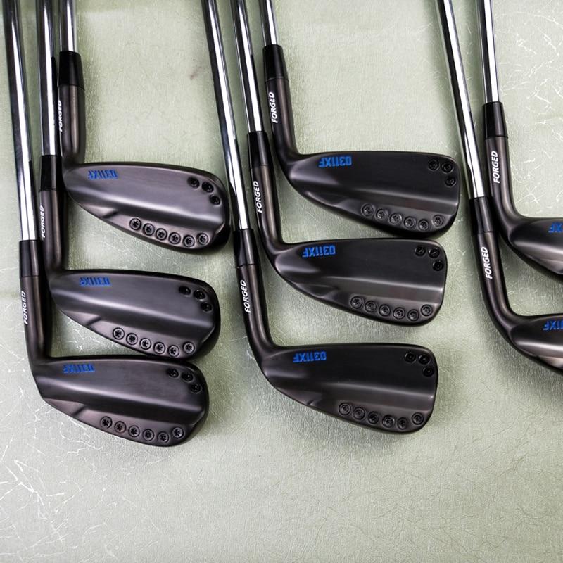 Golf Clubs 113XF noir rouge bleu fers ensemble 113XF Golf forgé fer 3-9W R/S Flex acier arbre avec couvre-chef DHL livraison gratuite