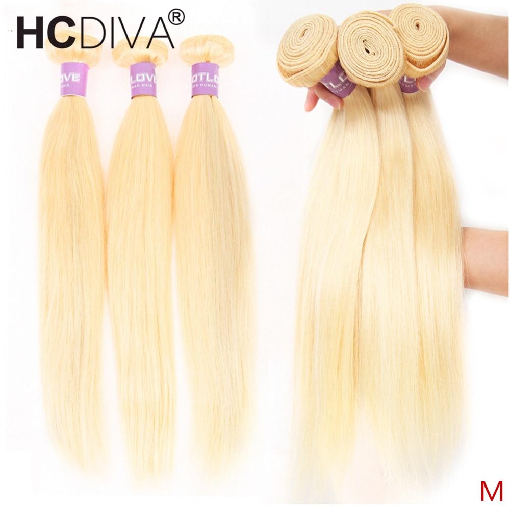 613 Honey Blonde Bundles Brazilian Straight Hair Weave 100% Remy Human Hair Extensions 1/3/4 Bundles 613 Human Hair Bundles