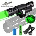 Тактический фонарь для оружия  светодиодный охотничий фонарик + лазерный прицел в горошек + переключатель давления + крепление на рельс 20 мм ...
