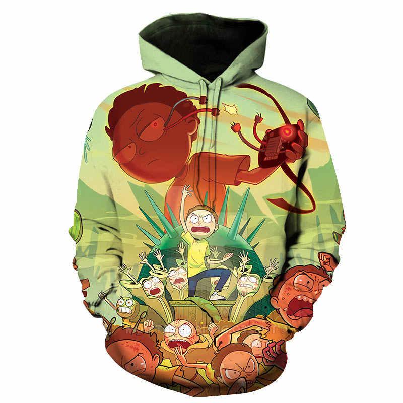 Rick and Morty 3D Hoodies Men and Women Cosplay Harajuku Hooded Sweatshirt 3d Pr