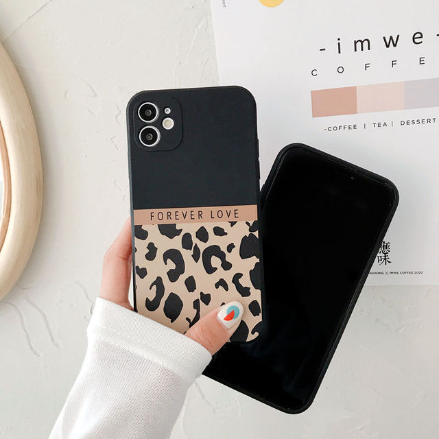 Ranipobo Leopard Print Phone Case For iPhone 12 11 X XR XS Max Soft Back Cover Shockproof Fashion Cover For iPhone 12 7 8 7Plus 4