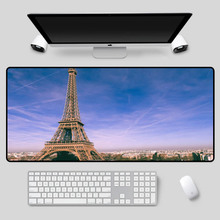 XGZ Exquisite Eiffel Tower mouse pad multi-size selection table beautiful landscape rubber high quality keyboard