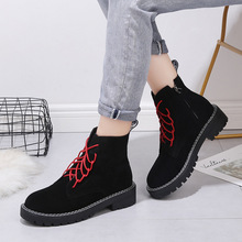 Купить с кэшбэком 2019 New Sapatos Mulher Botas Mujer Freeshipping2019 Martin Boots Female High-top Locomotive Cool Punk Hip Hop Handsome Short
