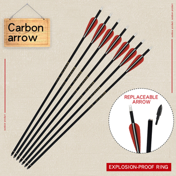 6/12/24pcs Carbon Arrows 32inches Spine 500/600 for Recurve/Compound Bow Shooting Traditional Archery Target Hunting Accessories 1 piece diameter 60cm arcehry straw grass target shooting practice recurve traditional compound bow slingshot training