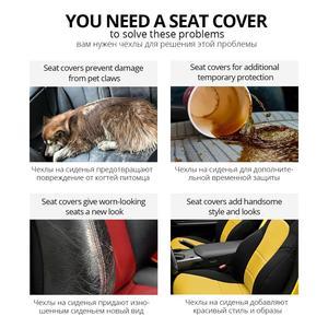 Image 5 - AUTOYOUTH غطاء مقعد السيارة الرياضية، قياس عالمي يناسب معظم الماركات, حماية المقاعد، ملحقات تصميم داخلي، غطاء مقعد أسود