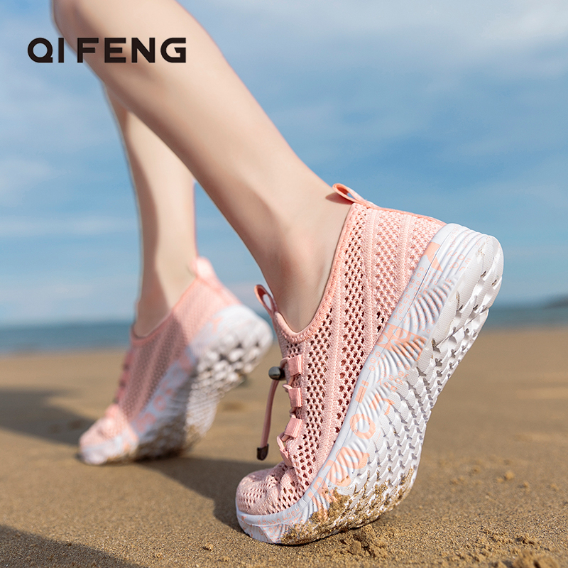 New Arrival Women Fashion Mesh Sports Aqua Shoes Men Canyoneering Beach Walking Sneakers Flat Summer Water River Tracing Surfing