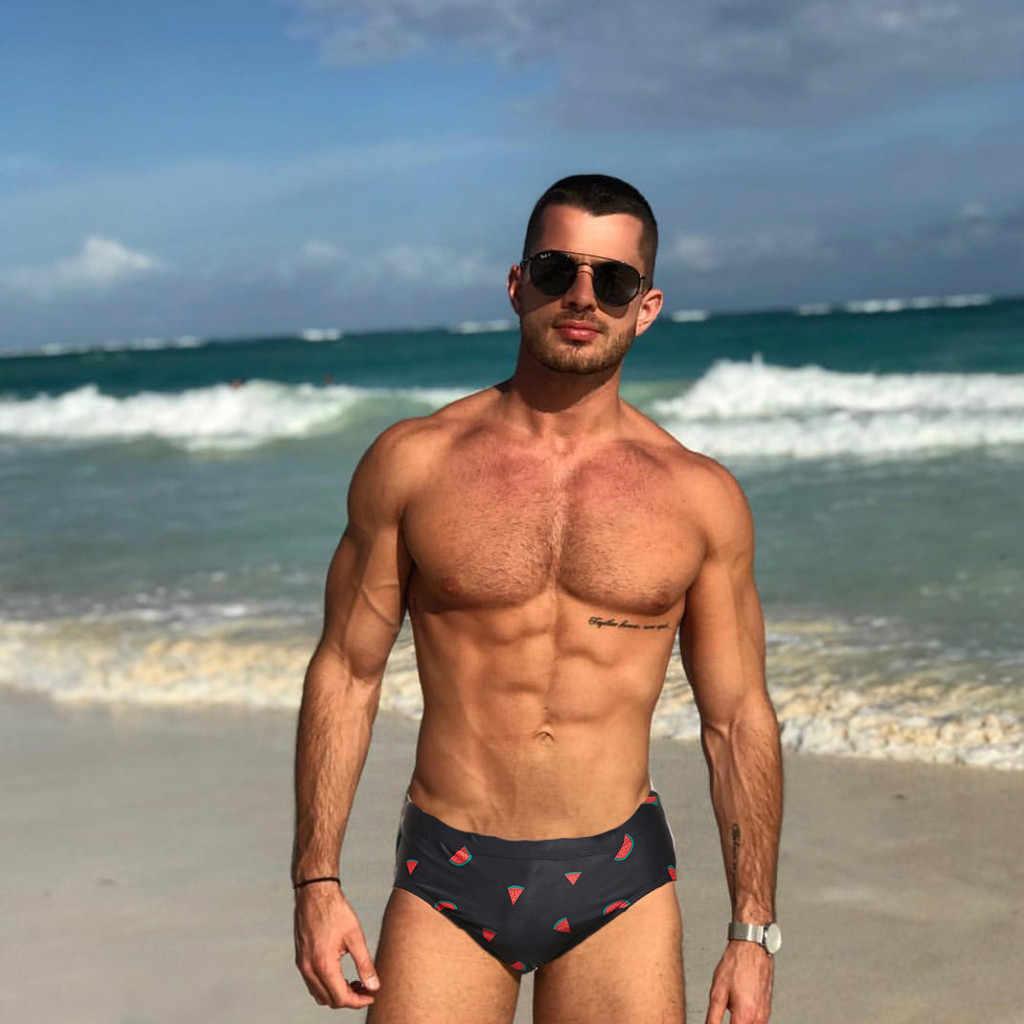 Sexy Mann Badehose Briefs Stern Low-taille Man'e Sommer Drucken Bademode Strand Bikini Männer Badeanzüge Quick Dry MaleDG4 #